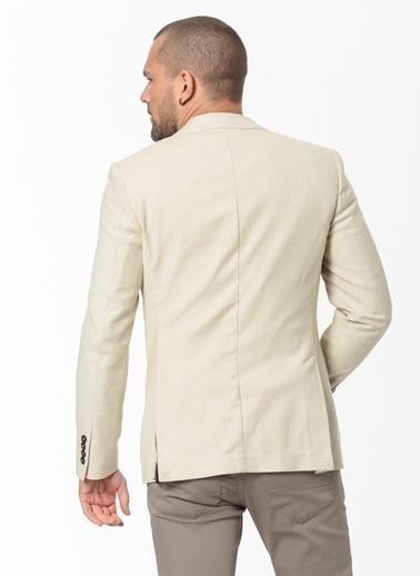 Beymen Business 4B0420200017 Slim Fit Ceket Desenli Bej